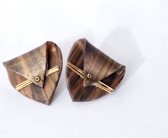 Folded Whisker Earrings by GiraffeandPeacock on Etsy,