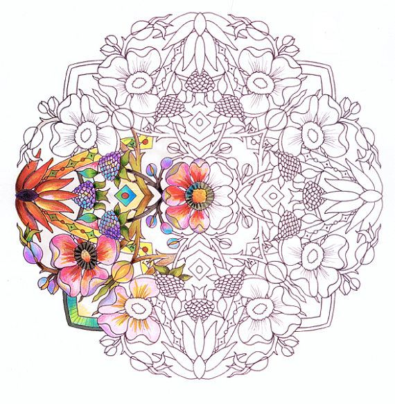 Mandalas-  Adult Coloring Pages on Heavy Paper