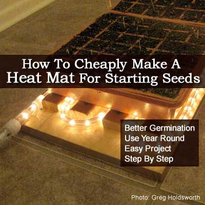 How To Make A Diy Heat Mat For Starting Seeds Heat Mat Seed Starting Heat Mat For Plants