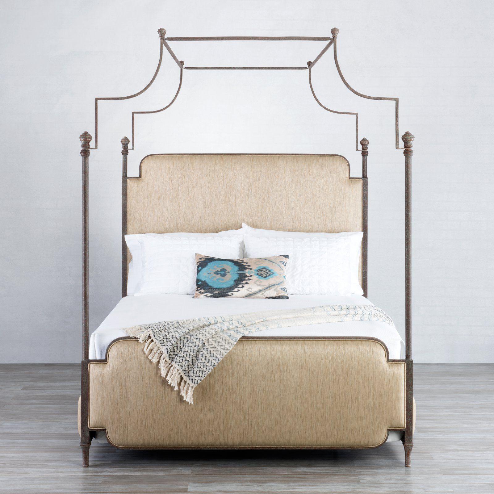 Wesley Allen Kenton Bed Iron bed, Iron canopy bed, Girls