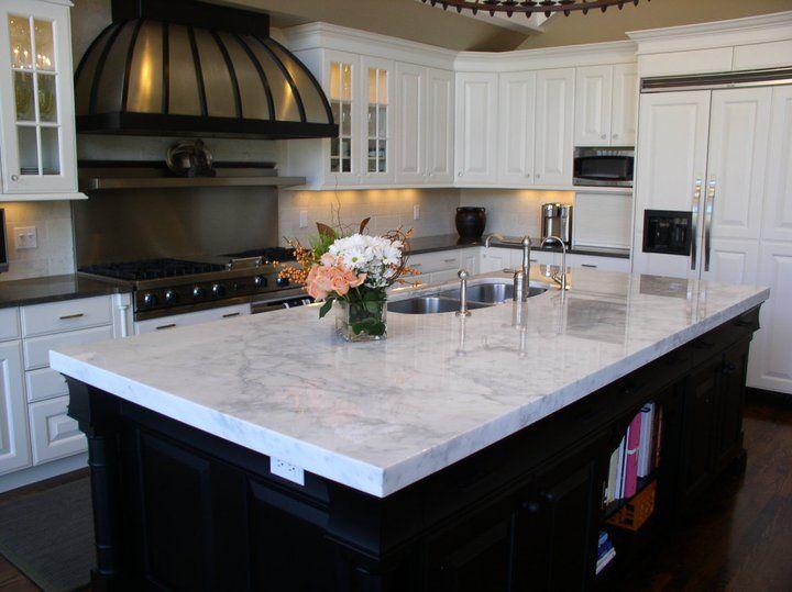 kitchen countertop  quartz  carrara marmi