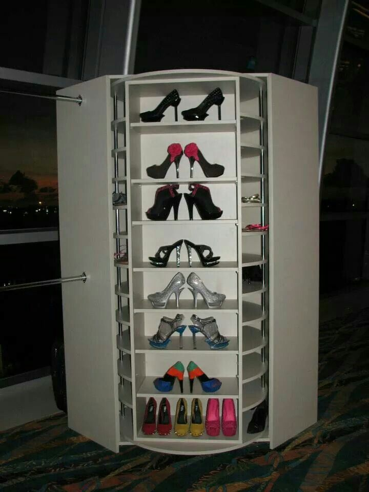 Rotating Shoe Rack 200 Pairs Diy Closet Storage Diy Shoe