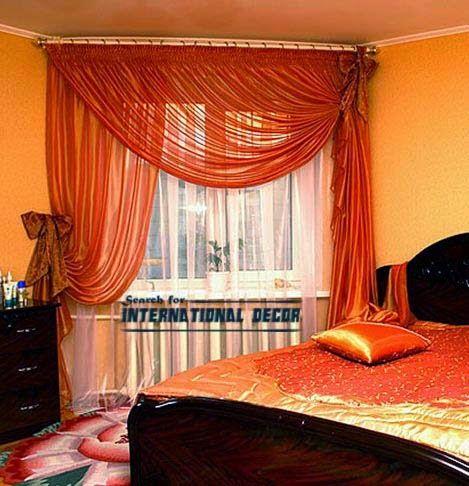 Unique Orange curtain designs for bedroom windows, orange bedroom ...