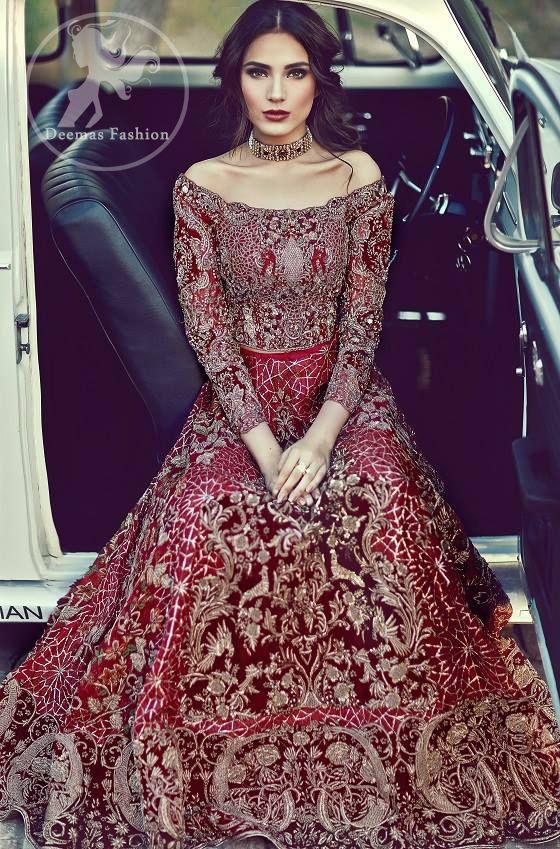 9b31aacb5dc1 Bright Red Bridal Lehenga - Choli Formal Dresses, Fashion, Moda, Dresses  For Formal