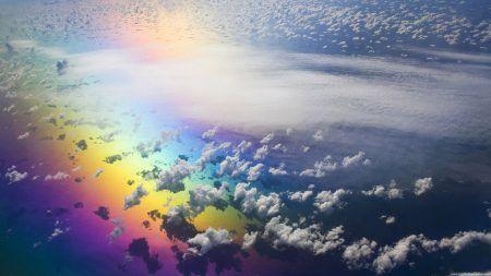 صور خلفيات جميلة وحلوة 2018 أحلي صور خلفيات روعة Hd ميكساتك Rainbow Art Rainbow Wallpaper Aerial View
