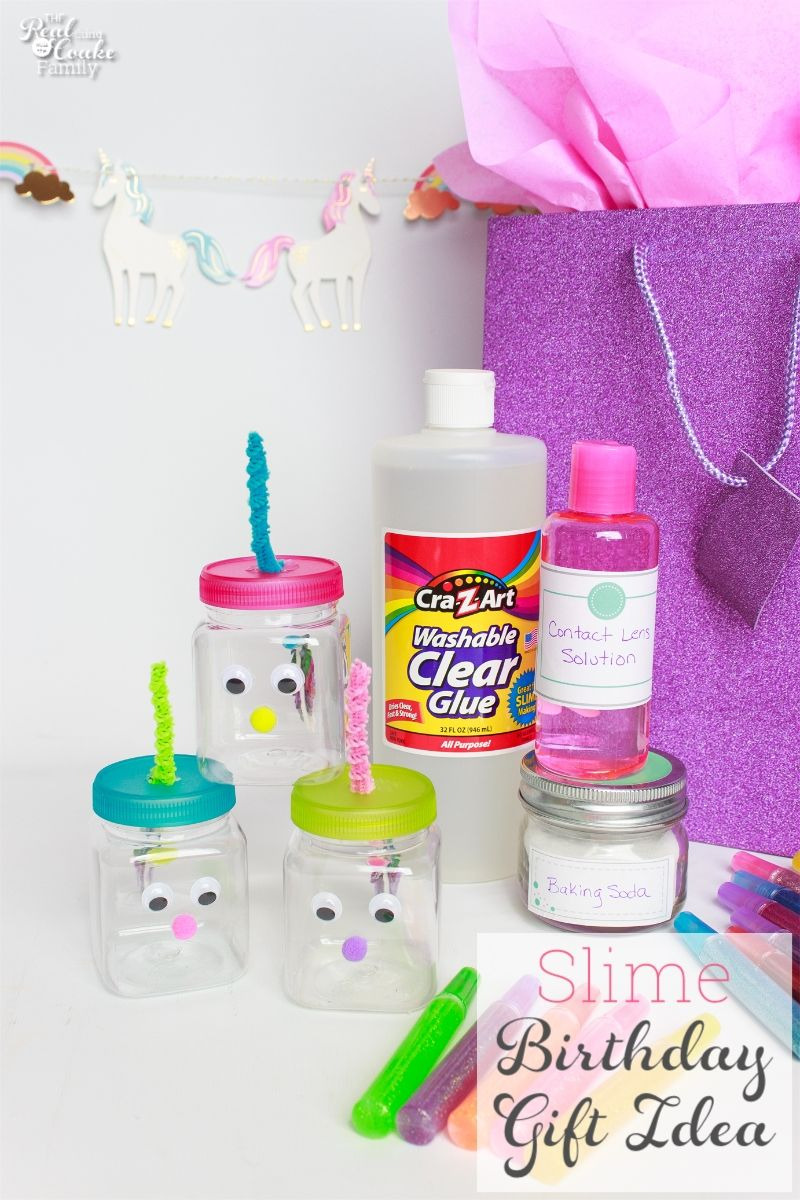 Diy Birthday Gift Make This Cute Slime For Kids Gift For Kids