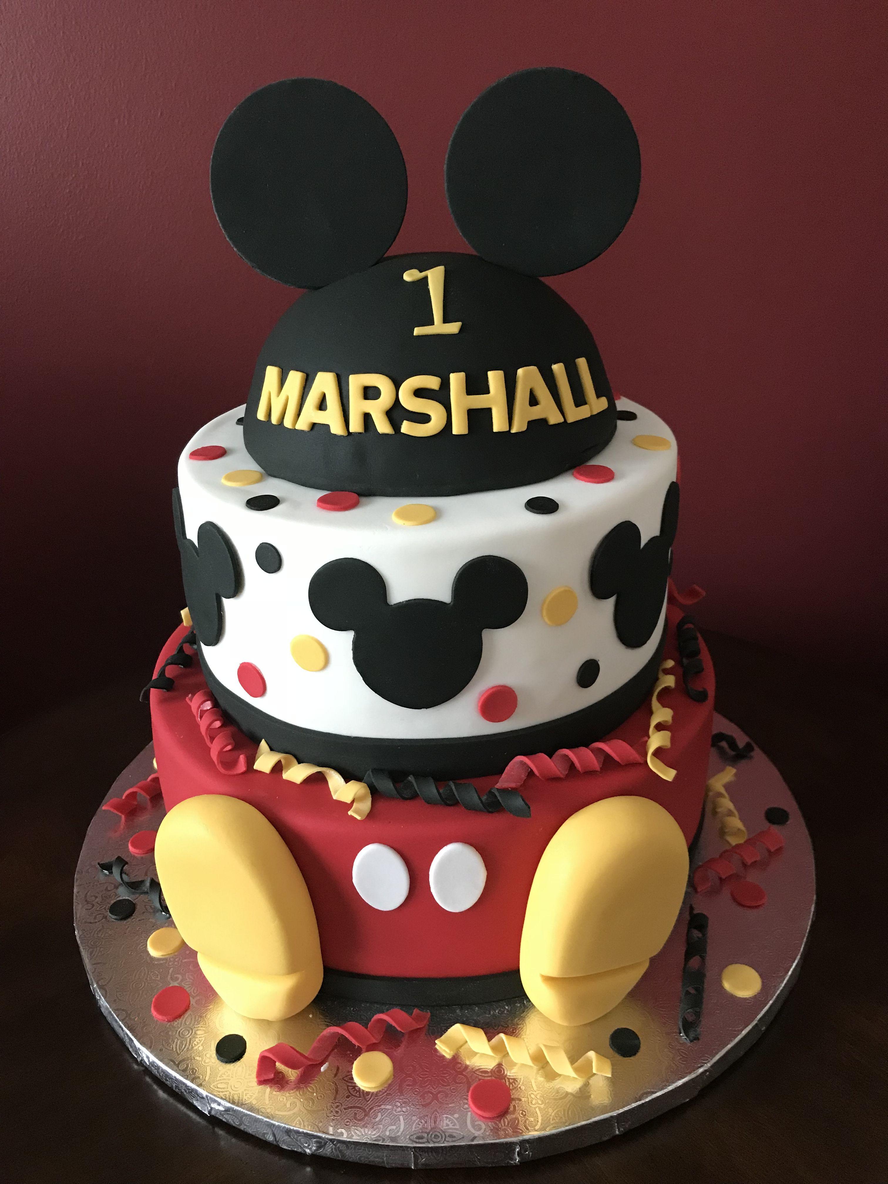 Mickey Mouse Birthday Cake Mickey 1st Birthdays Mickey Mouse
