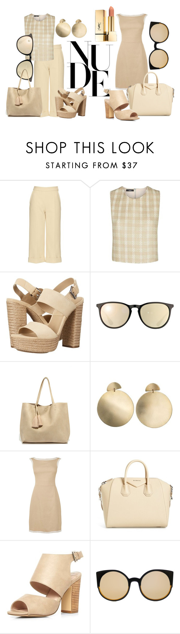 """""""Nudes"""" by pinklover-1609 ❤ liked on Polyvore featuring Delpozo, Vielma London, Michael Kors, Ray-Ban, LULUS, Zimmermann, Givenchy, Dorothy Perkins, RetroSuperFuture and love"""