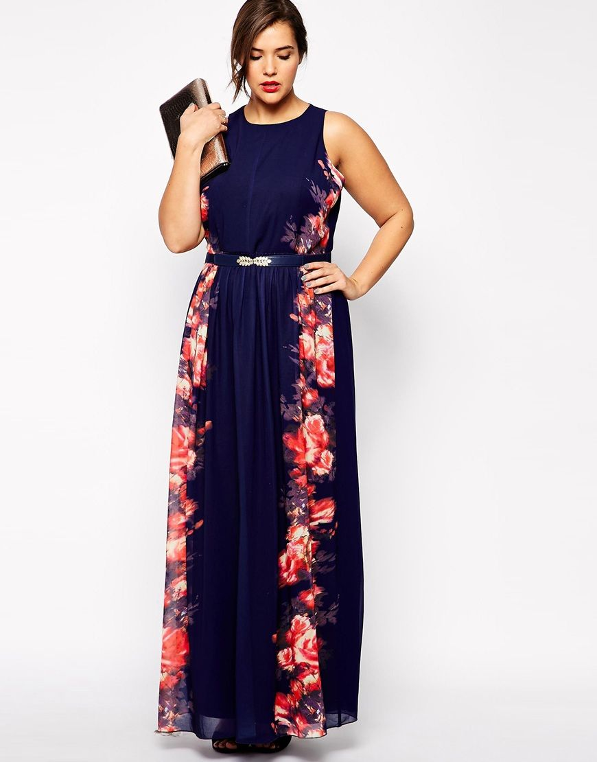 Black maxidress asos plus size moda para gorditas pinterest