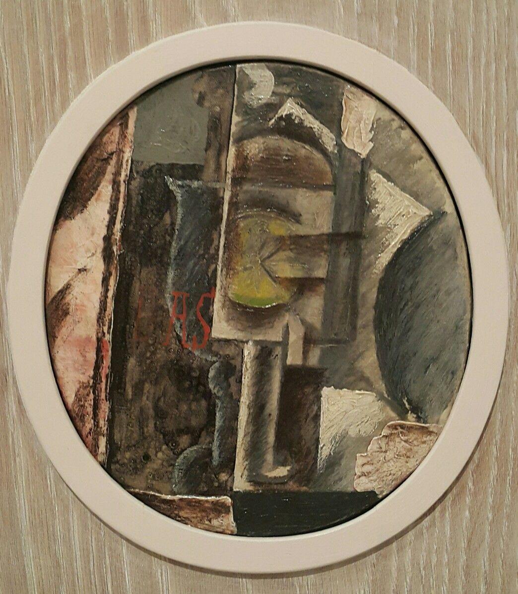 Vaso con rodaja de limón.  Pablo Picasso.  Galería Nacional de Dinamarca