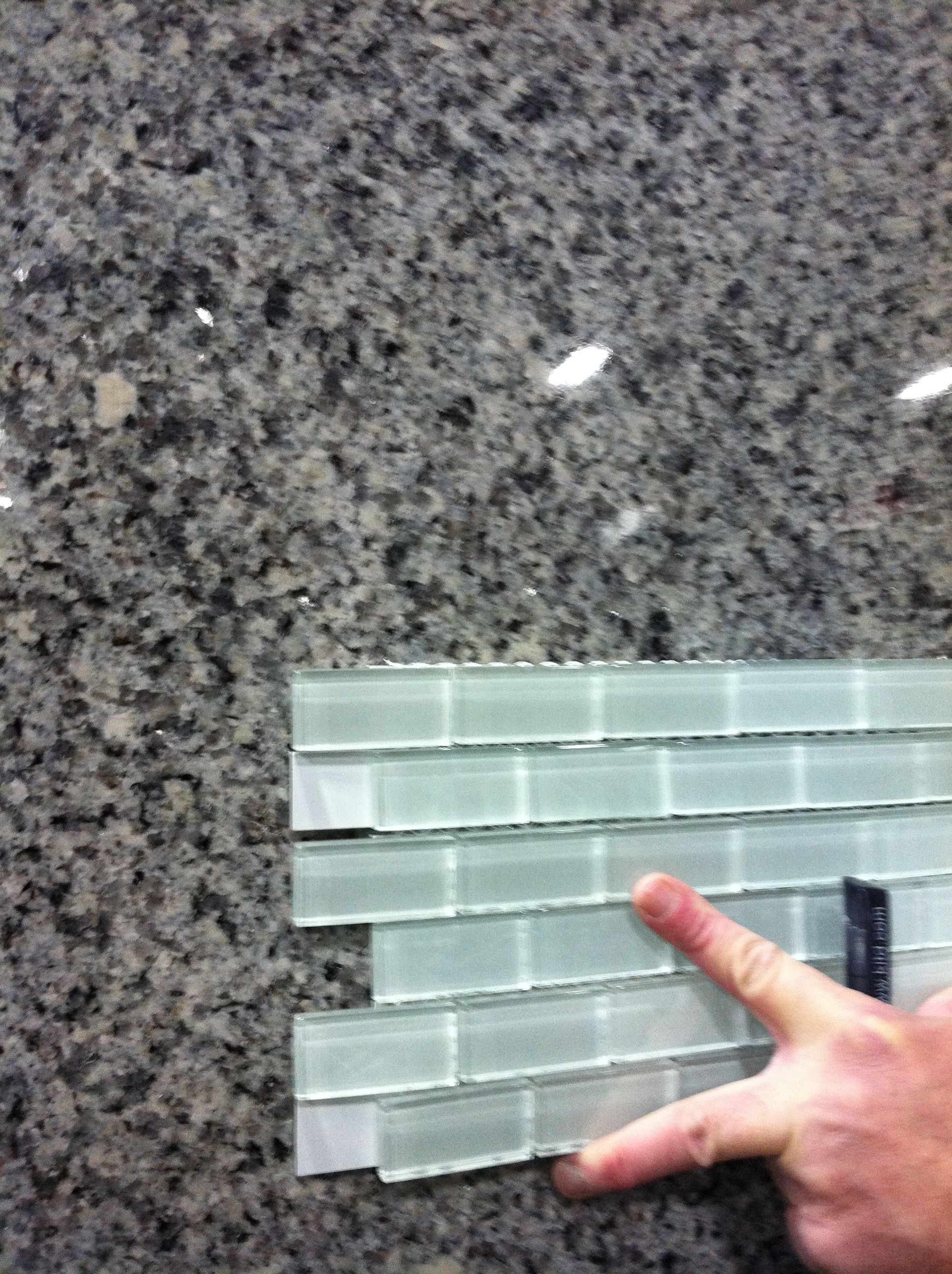 Picked my Azule Platino Granite slab today! Kitchen counter tops and ...