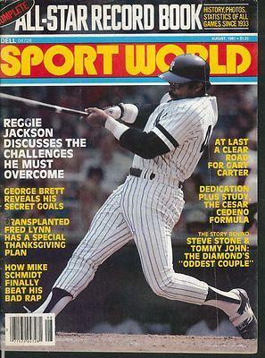 Sport World Reggie Jackson George Brett Fred Lynn Mike Schmidt 8 1981   eBay
