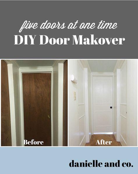 Diy Interior Door Makeover Five Doors At Once Hollow Core Doors