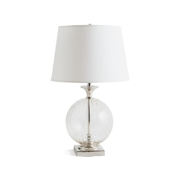 Emma table lamp in polished nickel brass and glass with white shade emma table lamp in polished nickel brass and glass with white shade aloadofball Choice Image