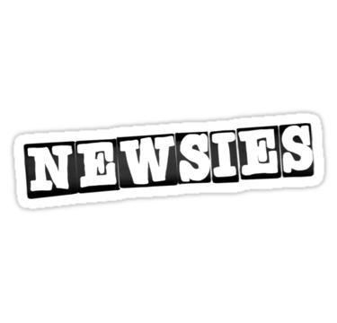 Newsies Logo Sticker By Victoriarymer Newsies Computer Sticker Logo Sticker