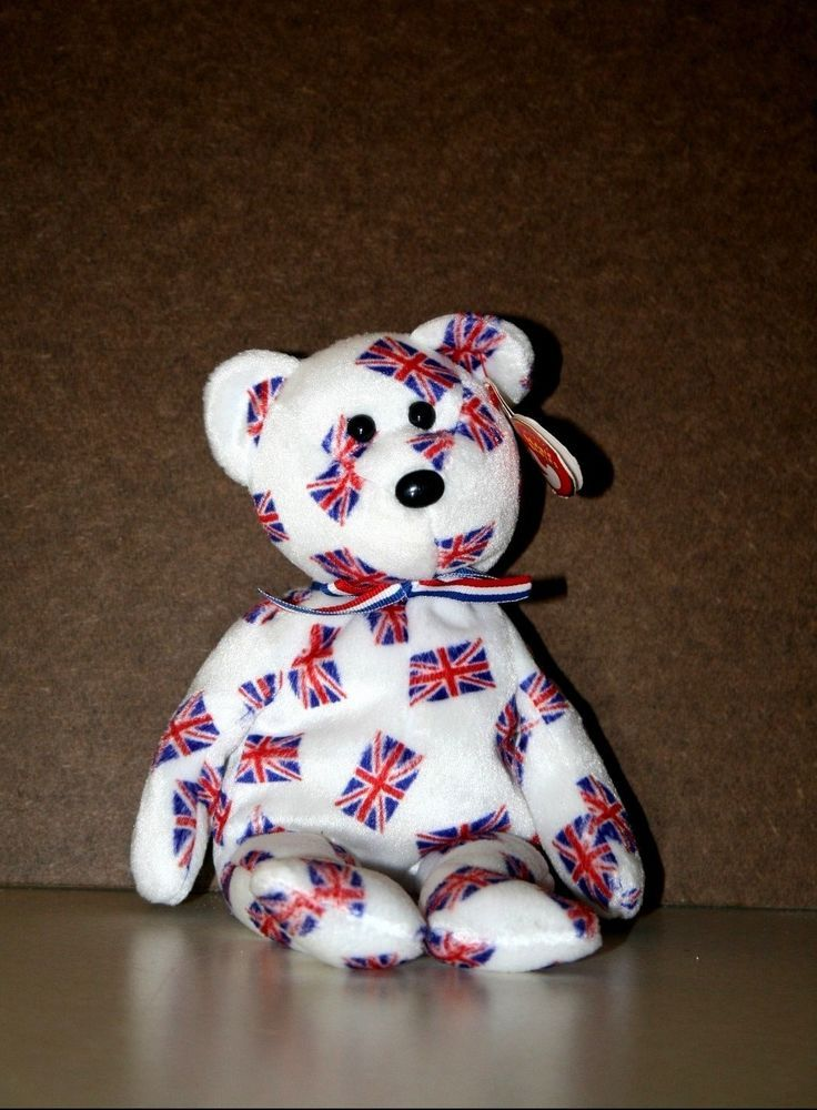 Ty Jack The Bear UK Flag