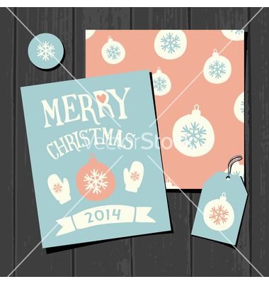 Christmas templates retro paper collection vector - by dolcevita on VectorStock®