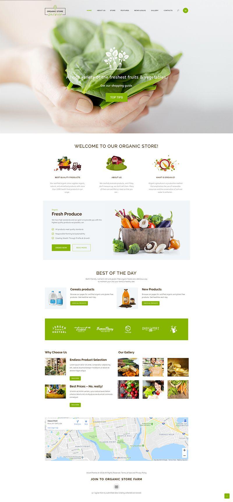 Best Organic Food Website Design Organic Food