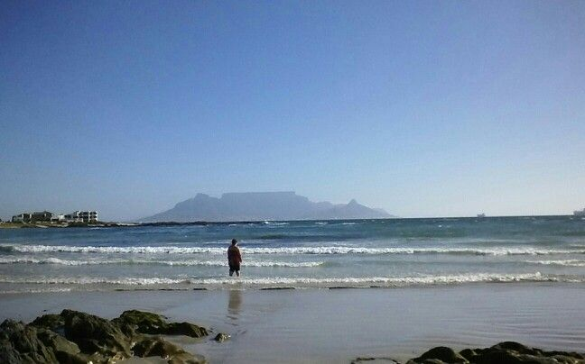 Table Mountain and the beach