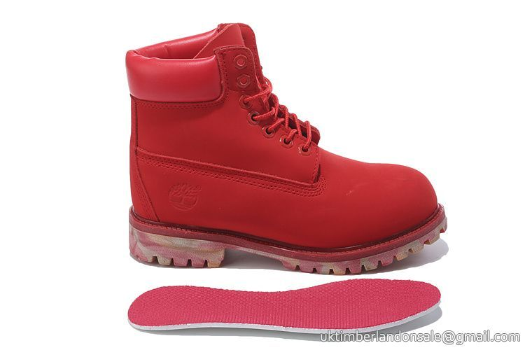 Timberland For Women's 6-Inch Premium Waterproof All Red Camo Boots $ 77.00