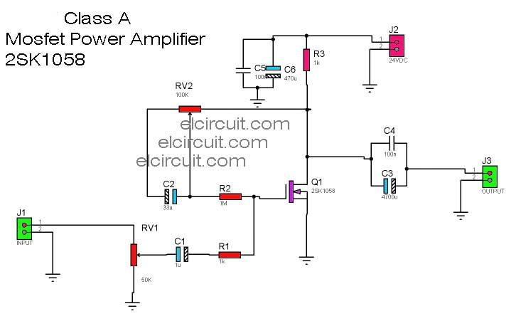class a mosfet power amplifier 2sk1058 in 2019 electronic