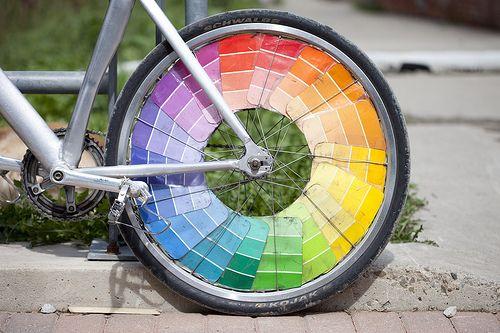 My Kind Of Wheel Paint Chip Art Rainbow Bike Color Wheel