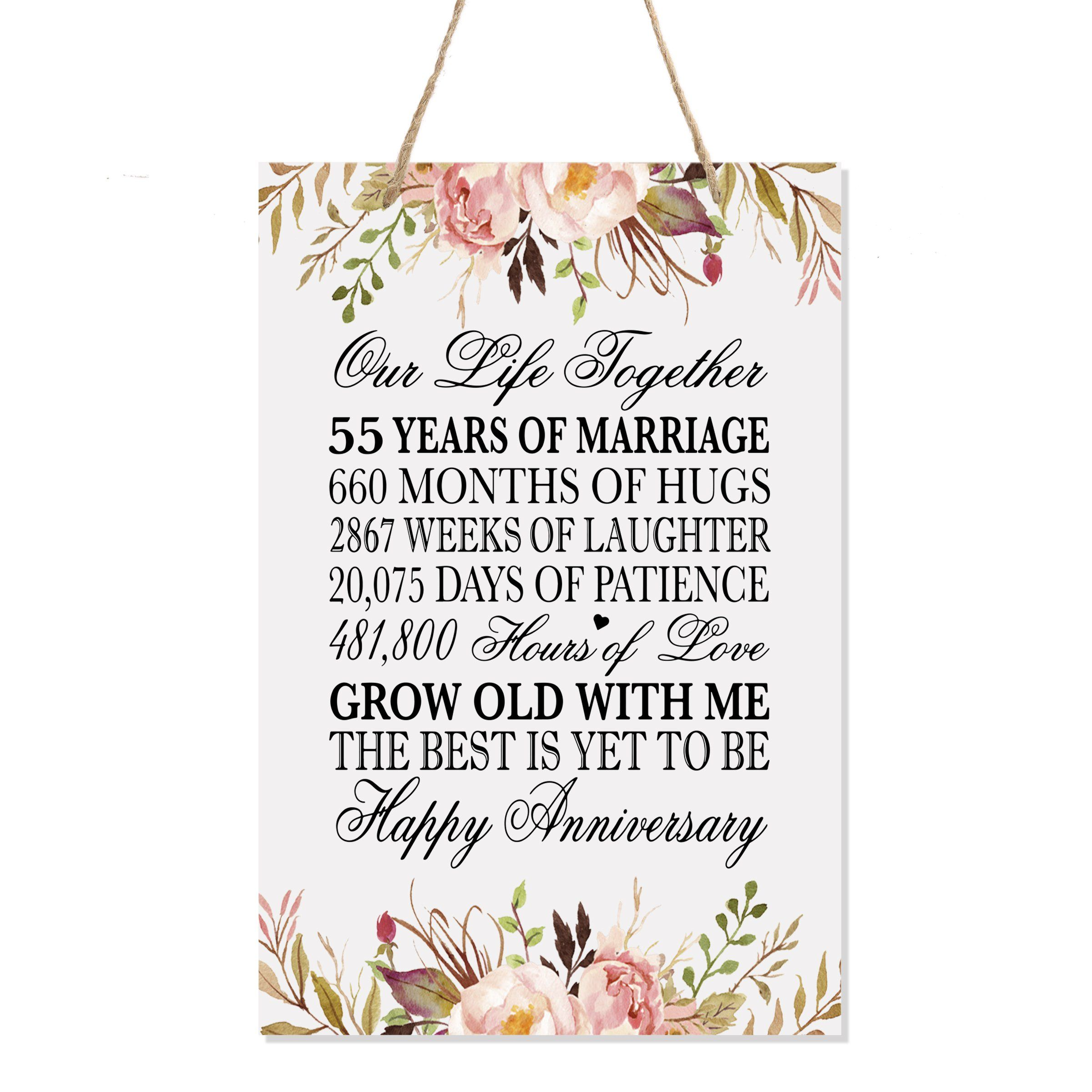 Beautiful and delicate couples hanging sign present plaque keepsake anniversary and wedding gift For any occation.