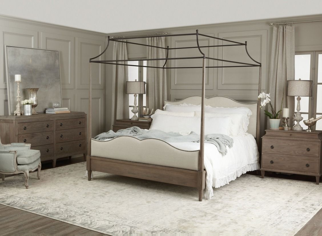 Auberge 3 Pc King Canopy Bedroom Set Canopy Bedroom Sets