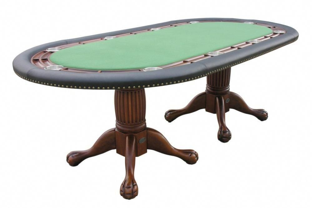 96 Oval Holdem Poker Table With Removable Dining Top Berner Billiards 96 Holdem Poker Table With Removable Dining Top Conve Poker Table Table Gaming Decor