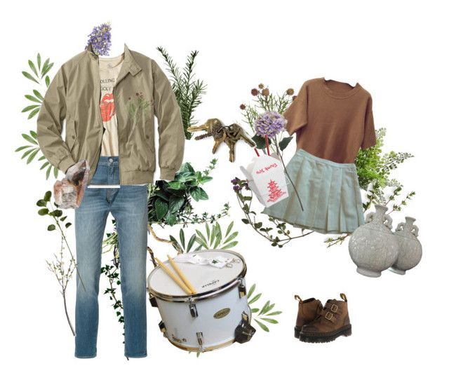 """""""Untitled #59"""" by elanorbrooke ❤ liked on Polyvore featuring My Mum Made It, Sandro, Pier 1 Imports, Lucky Brand, Levi's, Crate and Barrel and Dr. Martens"""