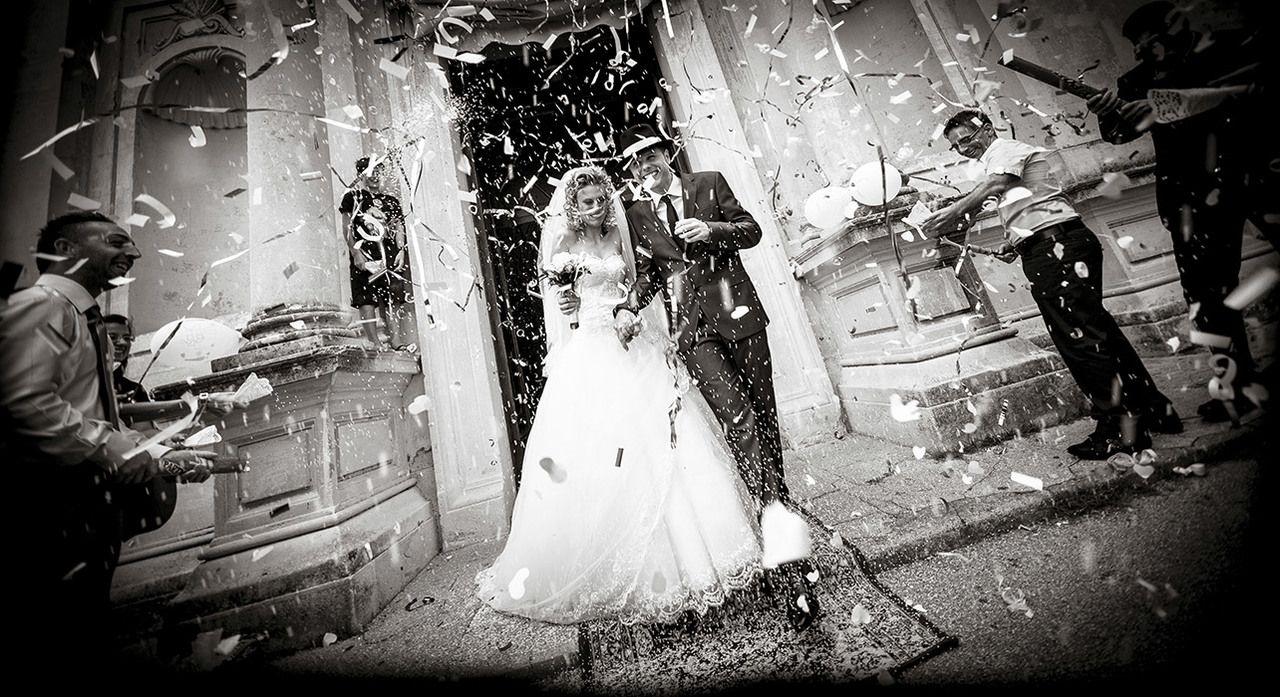 Realizzare foto di cerimonie in bianco e nero