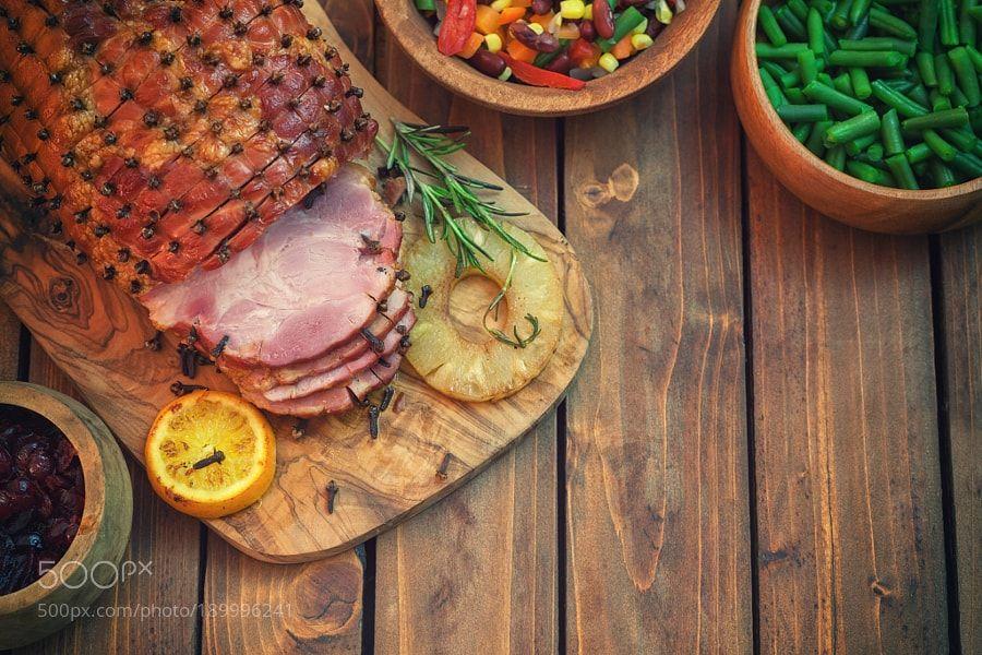 Glazed Holiday Ham by K2PhotoStudio