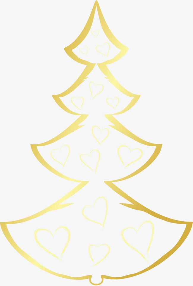 Desenhos De árvore De Natal Dourada Arvore De Natal