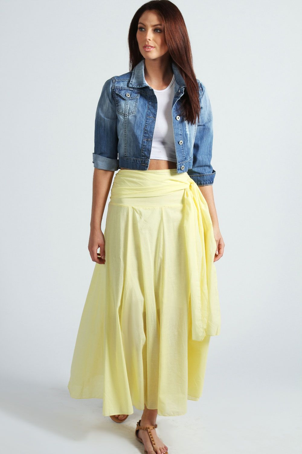 Emma tie waist cotton maxi skirt from boohoo get cash back and