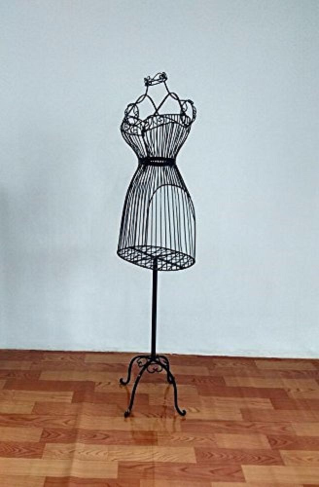 Vintage Metal Dress Mannequin Form Style Display Decorative Wire ...