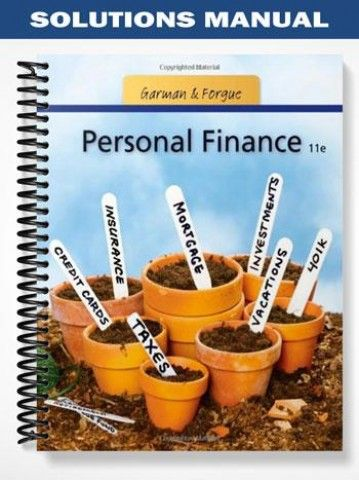 solutions manual for personal finance 11th edition by garman rh pinterest com UNDP Finance Manual UNDP Finance Manual