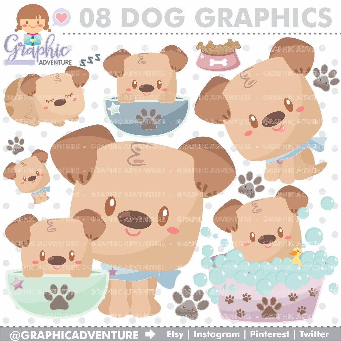 75 off dog clipart dog graphic clip art commercial use kawaii clipart dog party planner accessories puppy dog puppy clipart puppy [ 1182 x 1182 Pixel ]