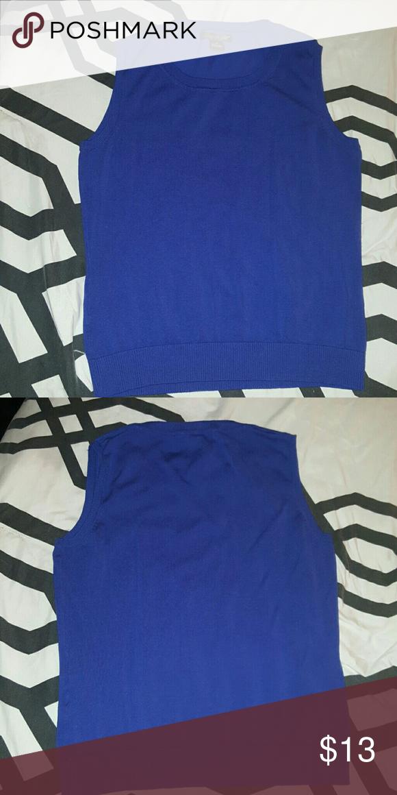 6c9efe9ec87a6 August Silk Sleeveless Shell Sweater Royal blue Sleeveless Shell Sweater in  excellent condition!!!  Medium august silk Tops