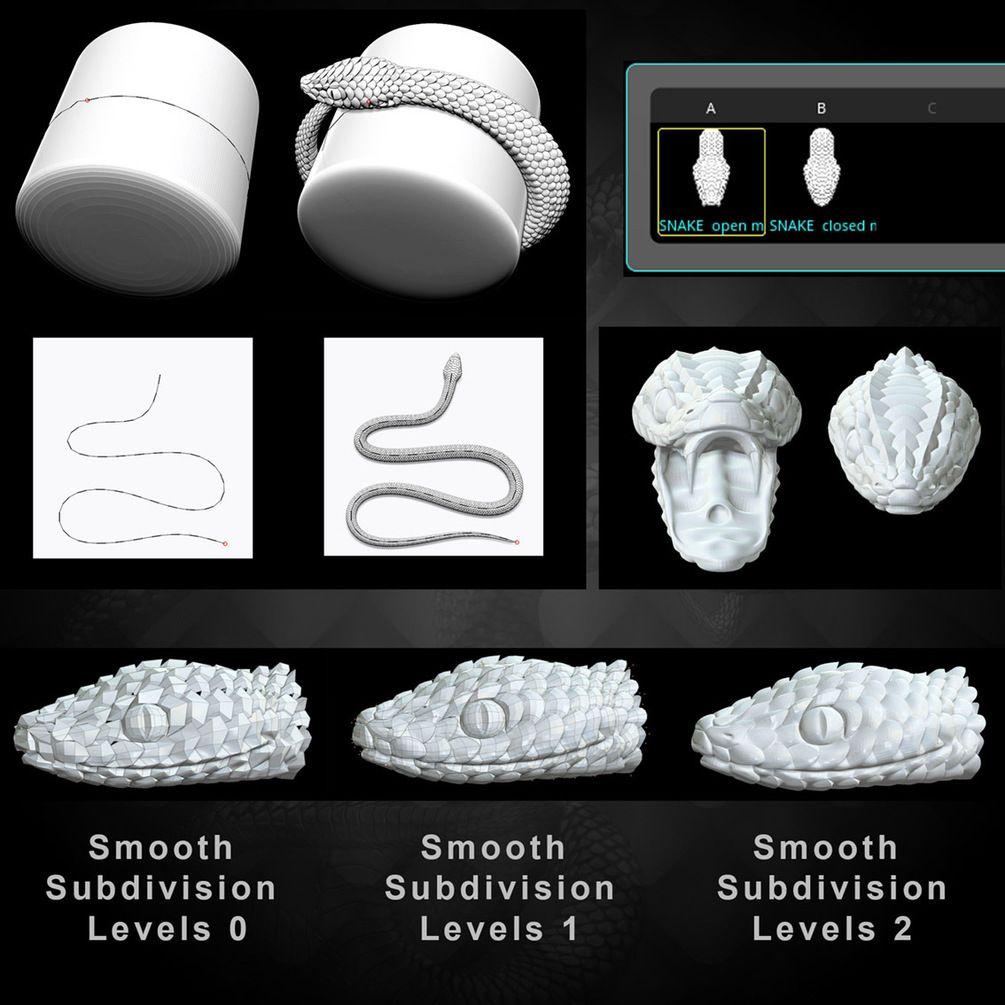 IMM Brush «Snake» for Zbrush | zbrush | Zbrush, Zbrush