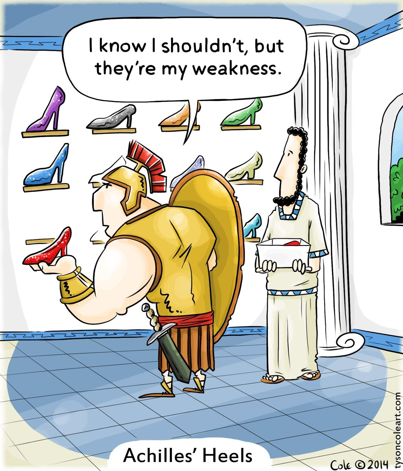 The Deep End Achilles Heels In 2021 Funny Puns Jokes Funny Cartoons Funny