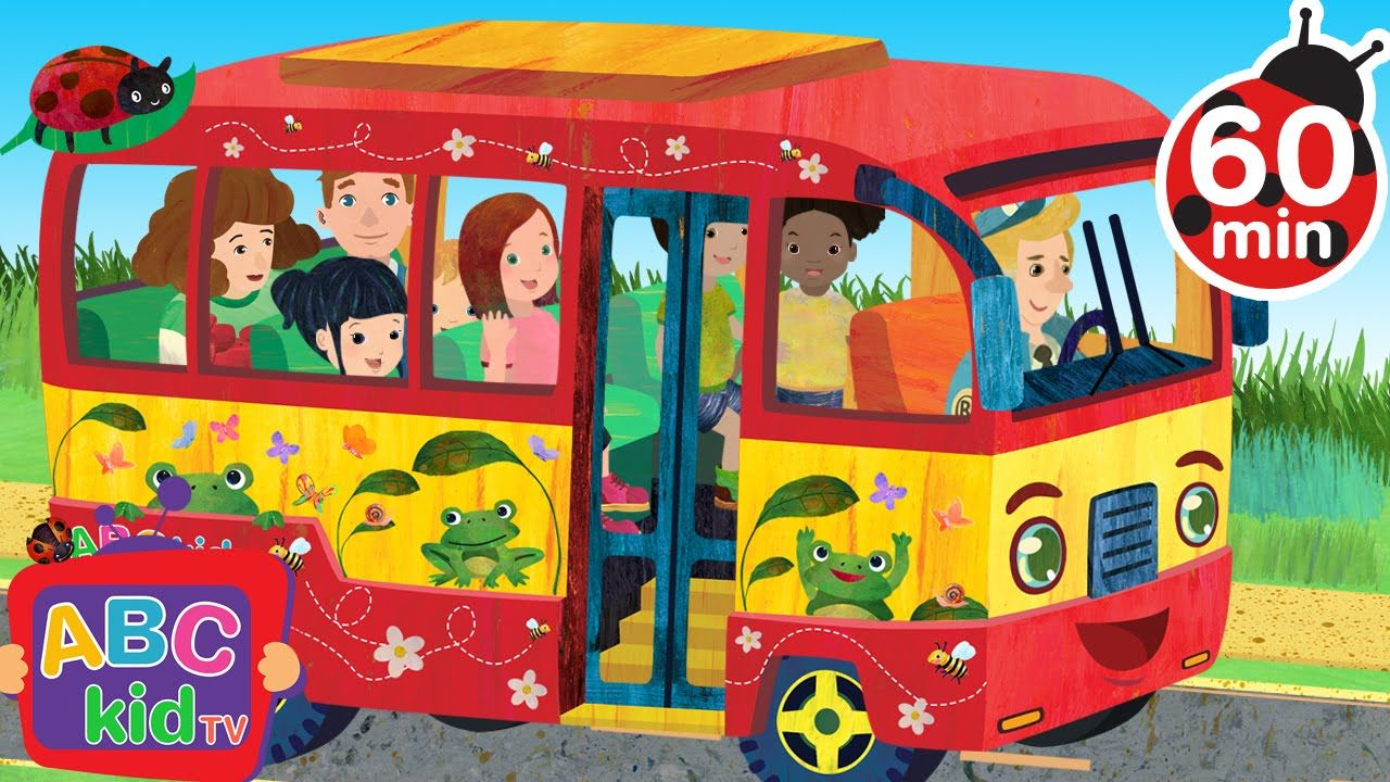 Wheels On The Bus 60 Min Nursery Rhymes Abckidtv Kids Songs