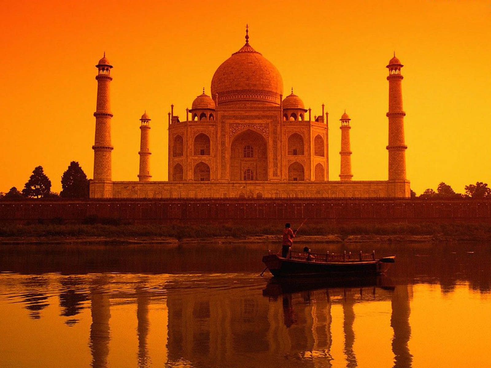 Fort Reflected Sunset India Wallpaper Free Wallpapers Desktop