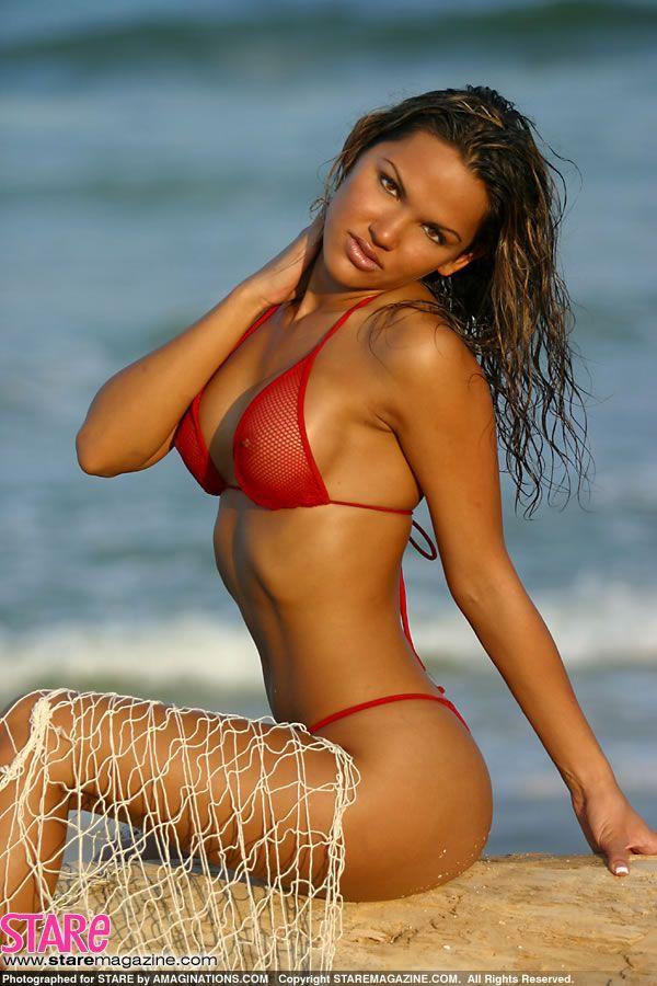 red Cj bikini gibson