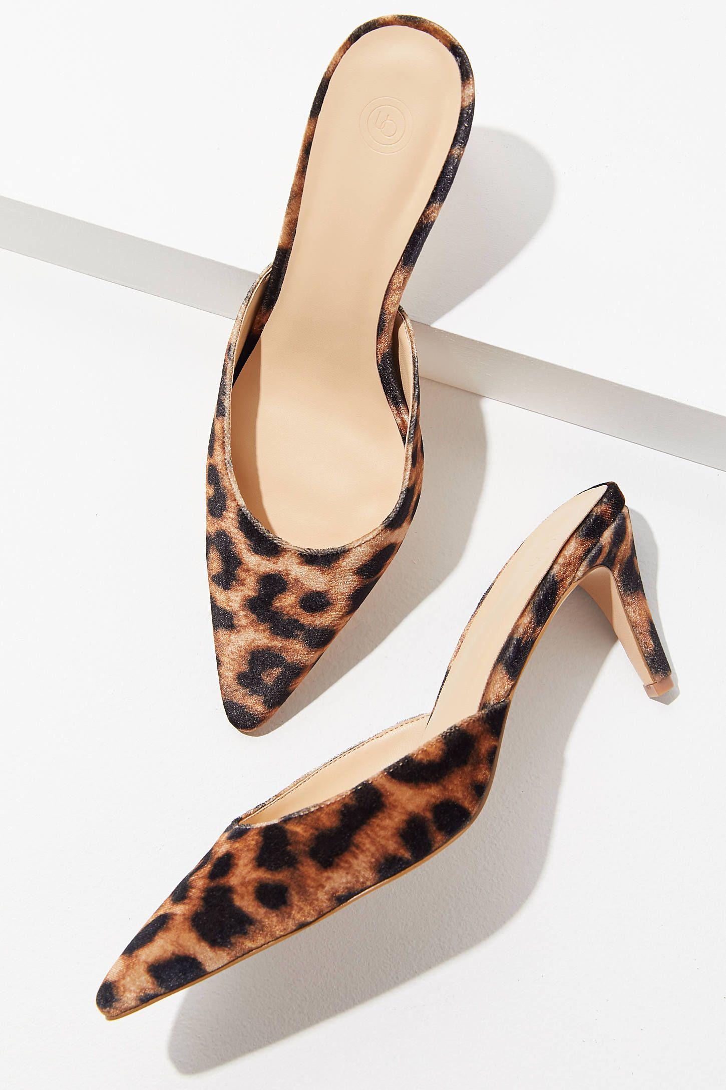 Uo Leopard Kitten Heel Mule Kitten Heels Heels Leopard Print Heels