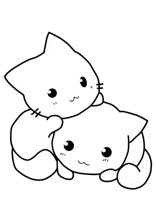 Malvorlage Katzen | Зарисовки | Pinterest | Kawaii, Drawings and Doodles