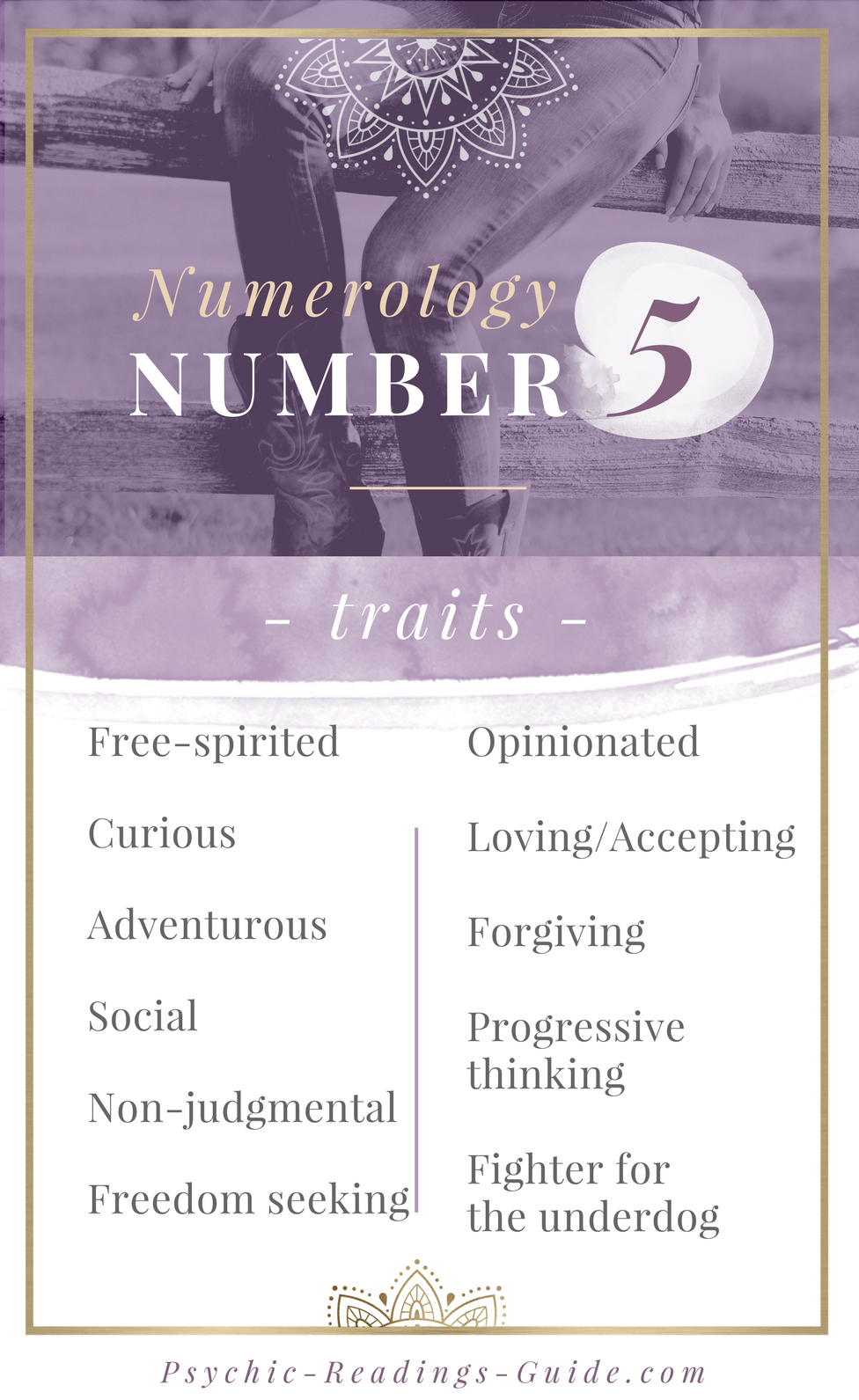 Numerology Number 5 - Life Path, Traits, Love, Career #number5 Numerology number 5 is the free-spirit! Read all of the number 5 traits, best love matches, careers, and challenges. #numerology #number5