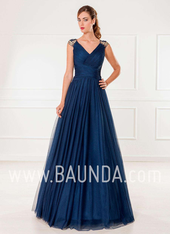 e046119cc Vestido de tul azul marino 2018 XM 9805 en Baunda Madrid y online en ...