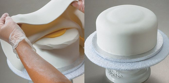 Add drama to your cakes by creating a fondant explosion look on top.