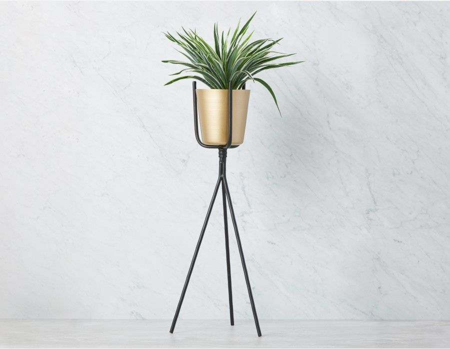 Susina Planter With Stand 70cm Gold Planter Planters Cement Pots