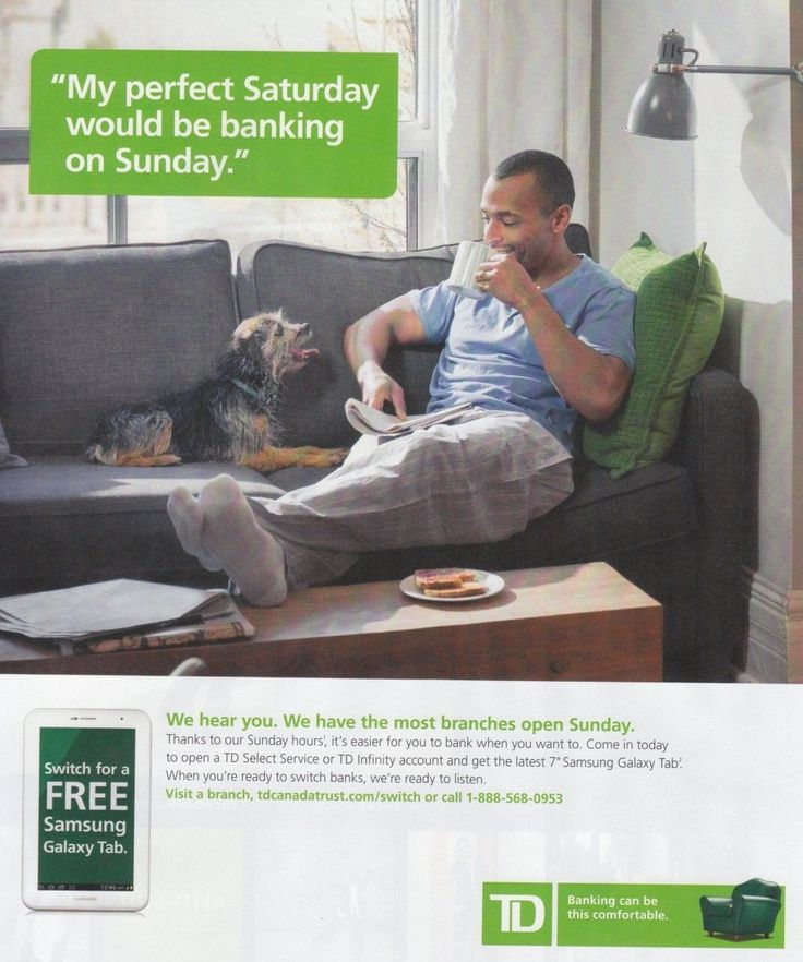 clever copy - TD bank #advertising | Print Ads | Banks ads, Print